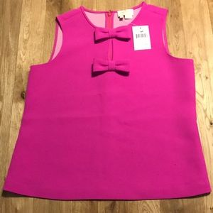 NWT OFFERS WELCOME!! 💖Kate Spade Bow Tank